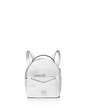 22f1da03f56ed2 Michael Michael Kors Jessa Extra Small Convertible Leather Backpack In  Optic White/Silver