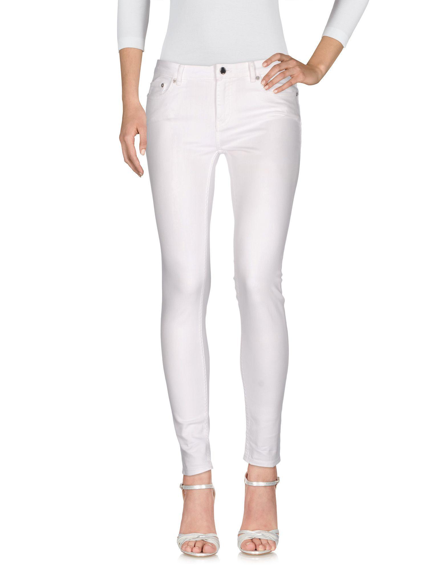 Blk Dnm Denim Pants In White