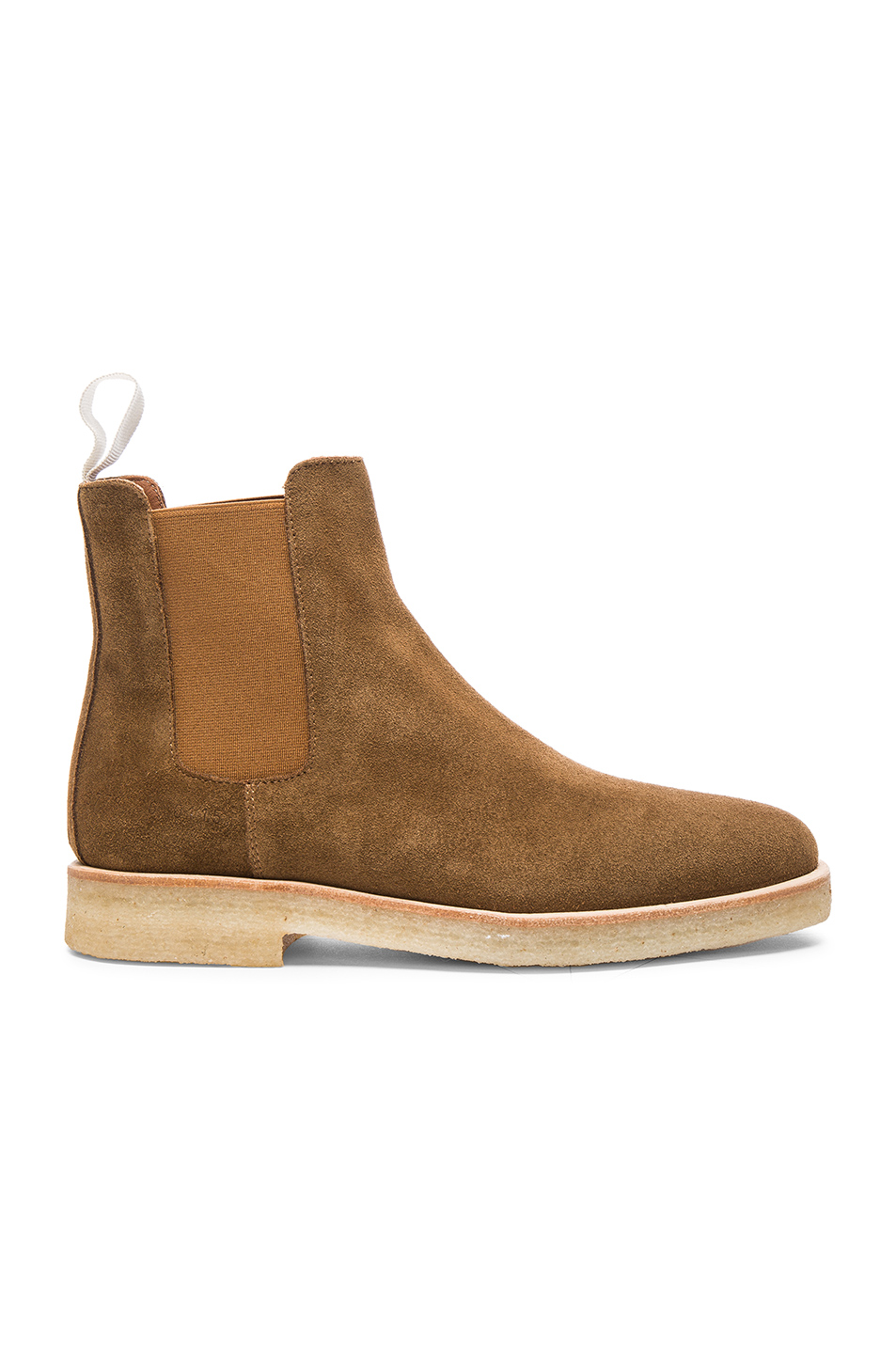 Common Projects Suede Chelsea Boots In Tobacco