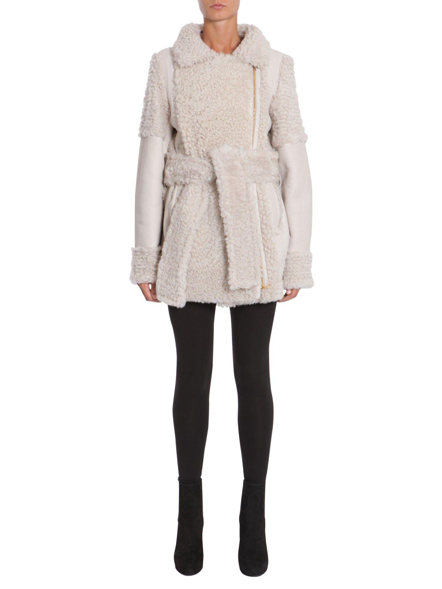 Lanvin Suede And Shearling Jacket In Beige