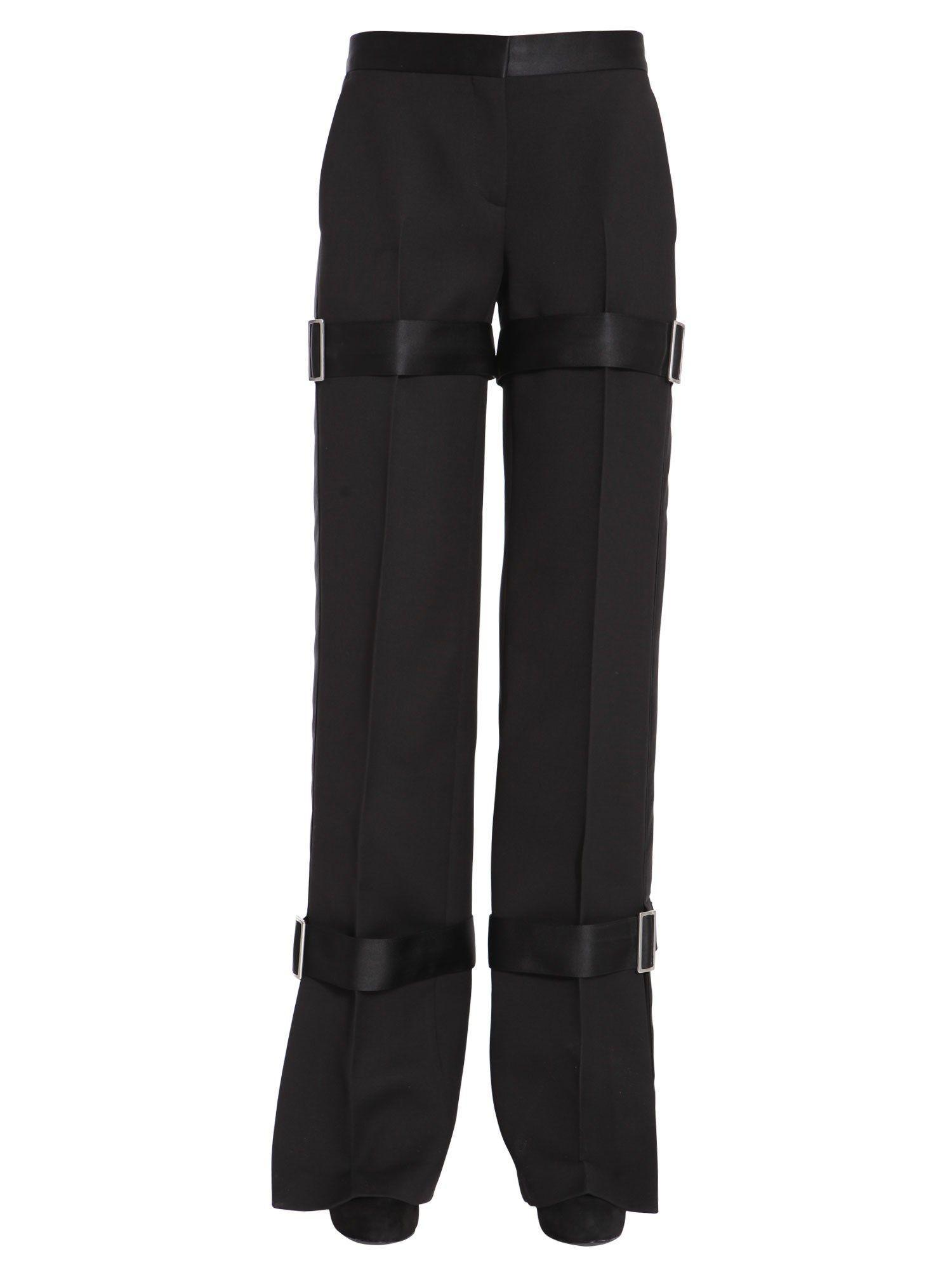 Alexander Mcqueen Wool And Silk Trousers In Black