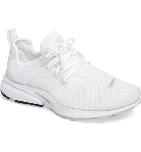 best service 2b0af 9bfad NIKE. Women s Air Presto Lace Up Sneakers in White  Pure Platinum  White