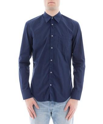 Maison Margiela Men's  Blue Cotton Shirt