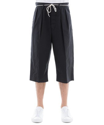 Maison Margiela Men's  Black Cotton Shorts