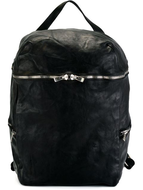 Guidi Top Handle Backpack In Black