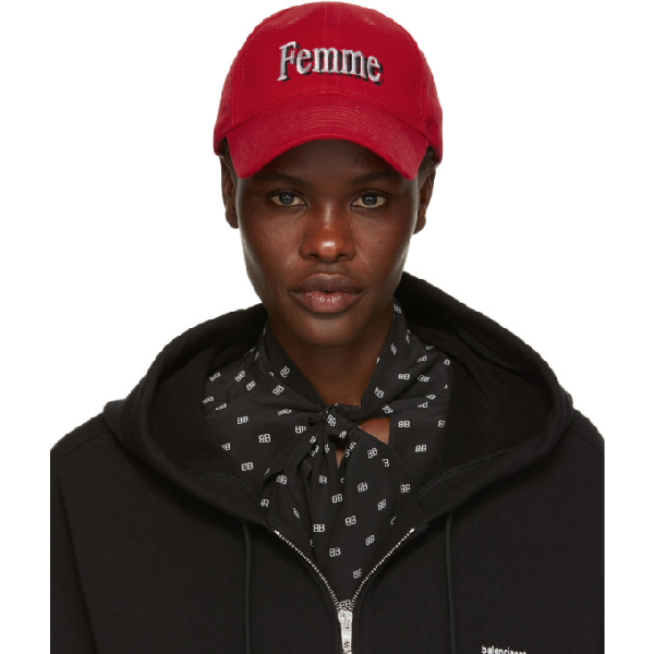 87839f40 Balenciaga Embroidered Cotton-Canvas Baseball Cap In Red | ModeSens