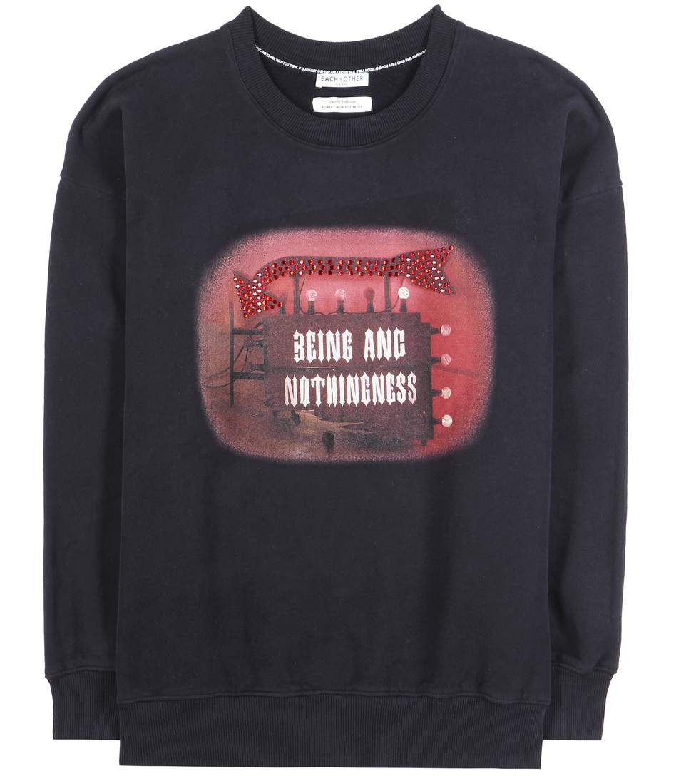 Each X Other 'being And Nothingness' Sweatshirt In Black