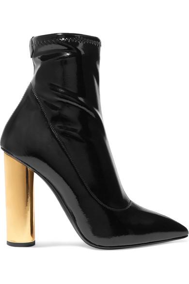 c6f22aed8e57b Giuseppe Zanotti Crudelia Patent-Leather Ankle Boots In Black | ModeSens