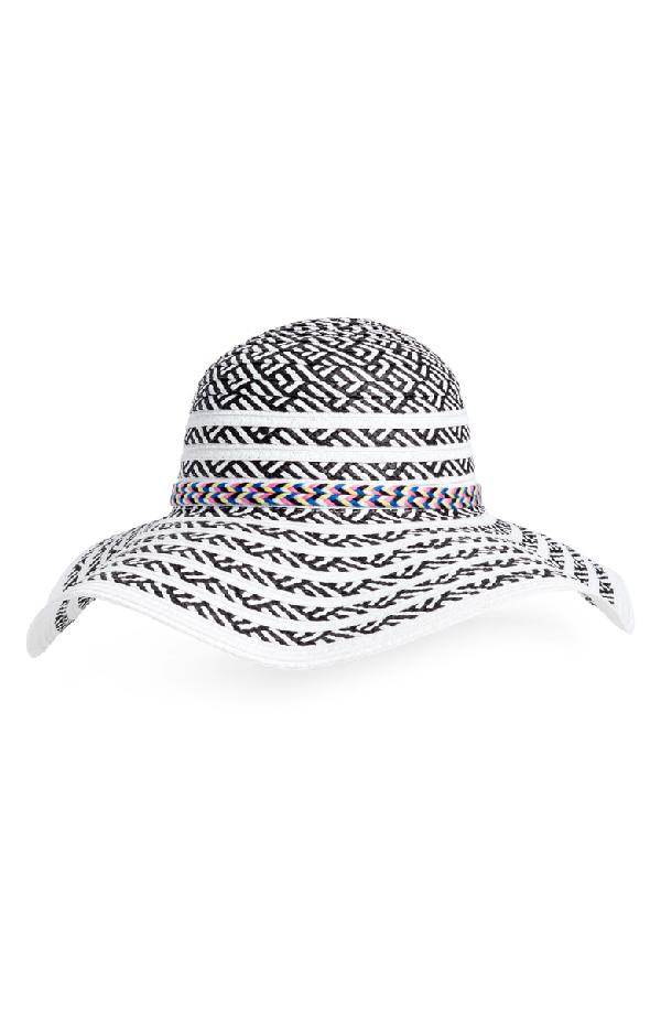 0ad35a4f70bf5 Steve Madden Beach Party Floppy Hat - Black In Black  White