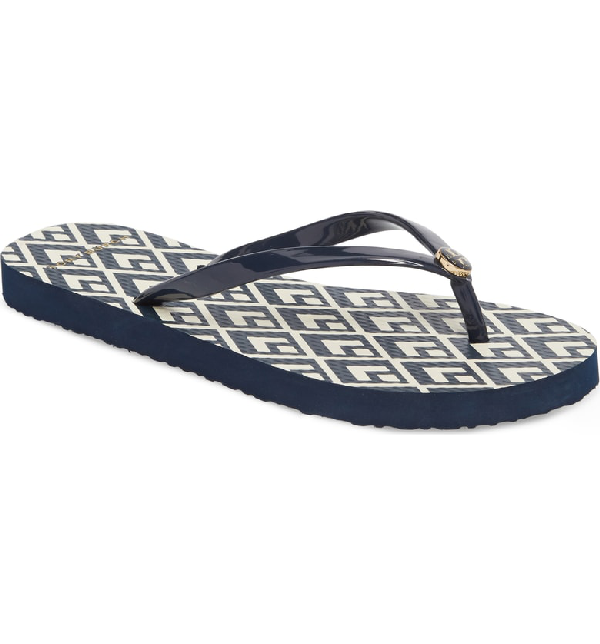 7fa2b0d4b38c4 Thin Flip Flop in Tory Navy/ Diamond Sky