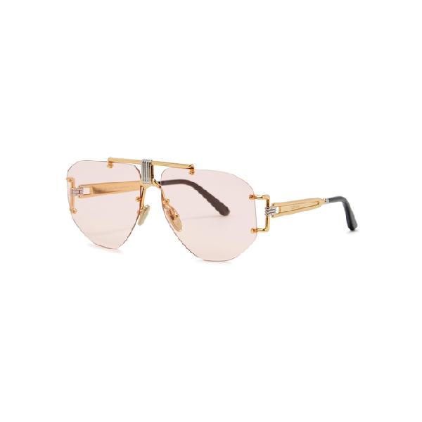 e50336eb63 Celine Gold Tone Aviator-Style Sunglasses
