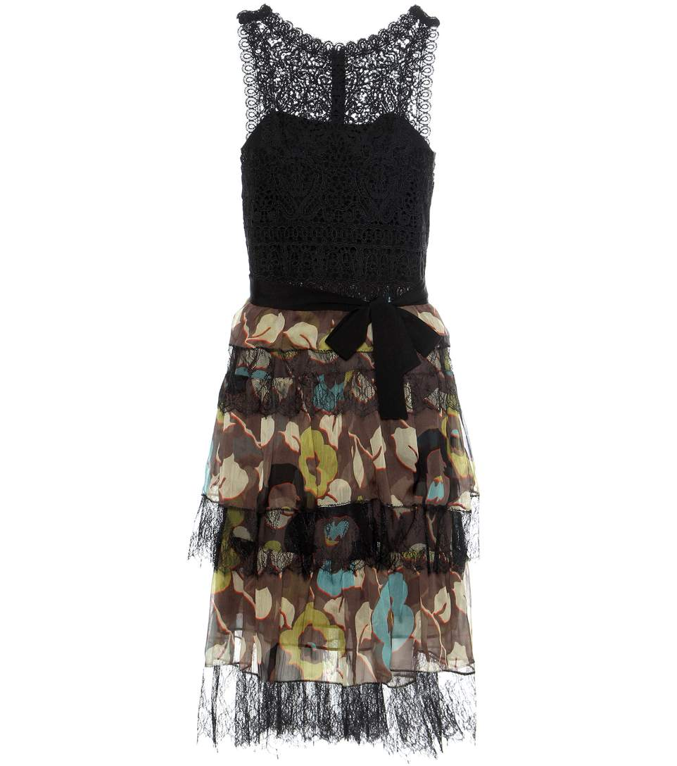 Etro Lace-trimmed Printed Dress