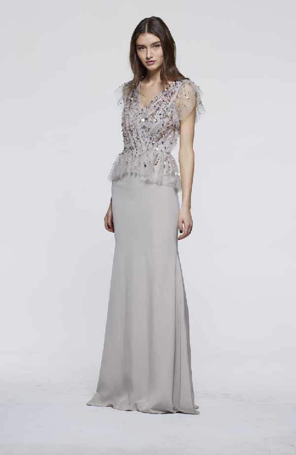 208501cada12 David Meister Fall 2018 Sleeveless Evening Gown In Champagne | ModeSens