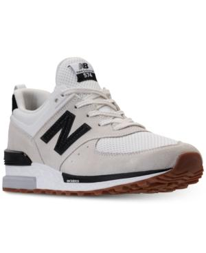 3cd986585f7 New Balance Men s 574 Sport Casual Sneakers From Finish Line In Nimbus  Cloud Black
