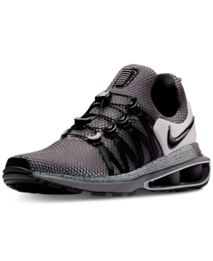 huge discount 22dfe f846d Nike Men s Shox Gravity Casual Sneakers From Finish Line In Atmosphere Grey  Black-Thu