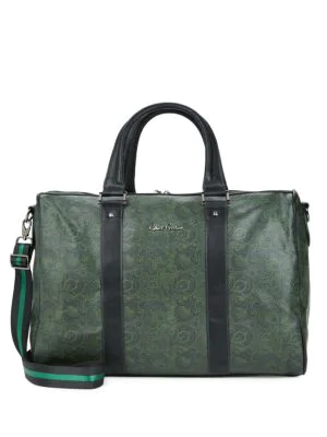 Robert Graham Paisley-Print Faux Leather Duffle Bag In Forest
