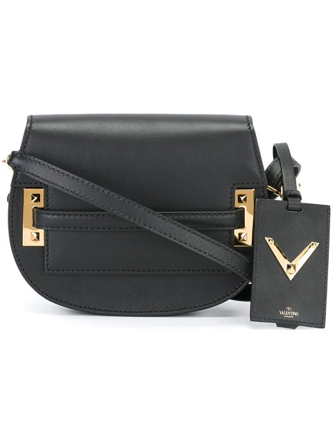 Valentino Garavani 'my Rockstud' Shoulder Bag In Black