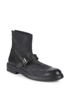 John Varvatos Ellis Back Zip Moto Ankle Boots In Black