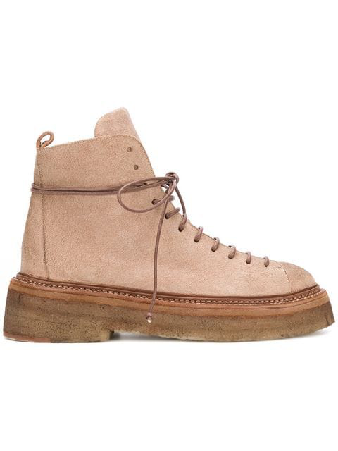 MarsÈLl Thick-Sole Combat Boots In Cavrevcarne