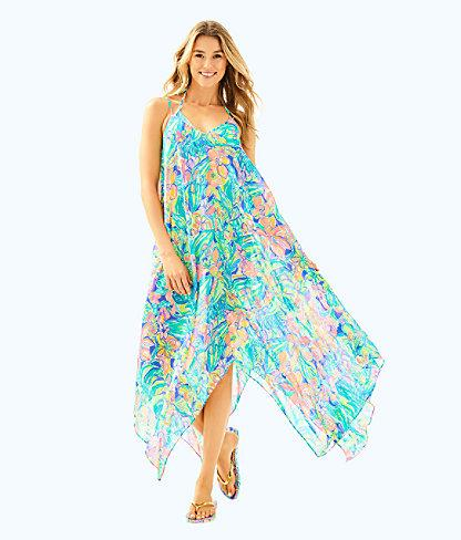19532029d1 Lilly Pulitzer Perry Cover Up In Bennet Blue Surf Gypsea Swim | ModeSens