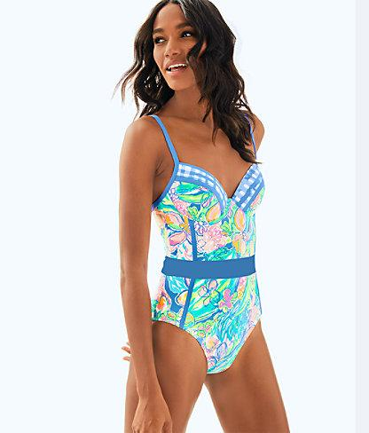 a99396ae68 Lilly Pulitzer Palma One Piece Swimsuit In Bennet Blue Surf Gypsea Swim