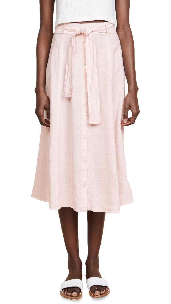 600752325a Three Dots Seamed Midi Skirt In Pink Lemonade | ModeSens