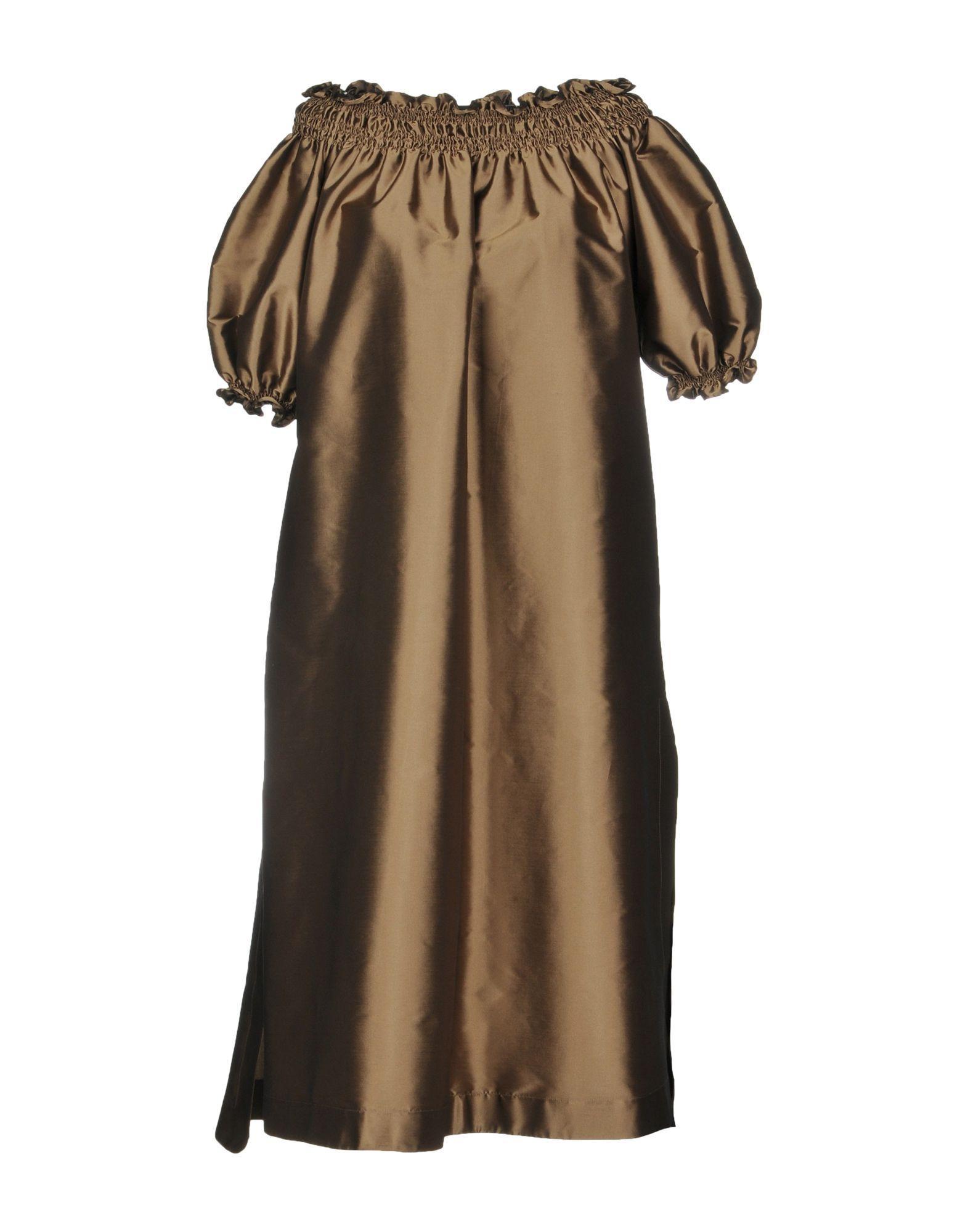 Rossella Jardini Knee-length Dress In Khaki