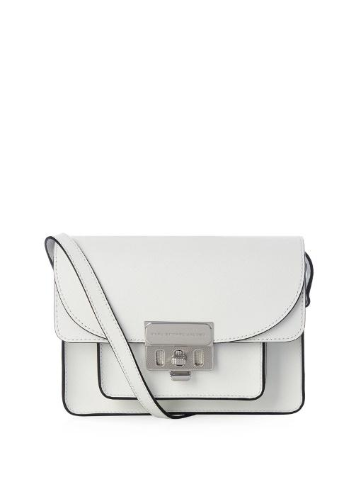85455cd8b Marc By Marc Jacobs Lip Lock Leather Cross-Body Bag In White   ModeSens