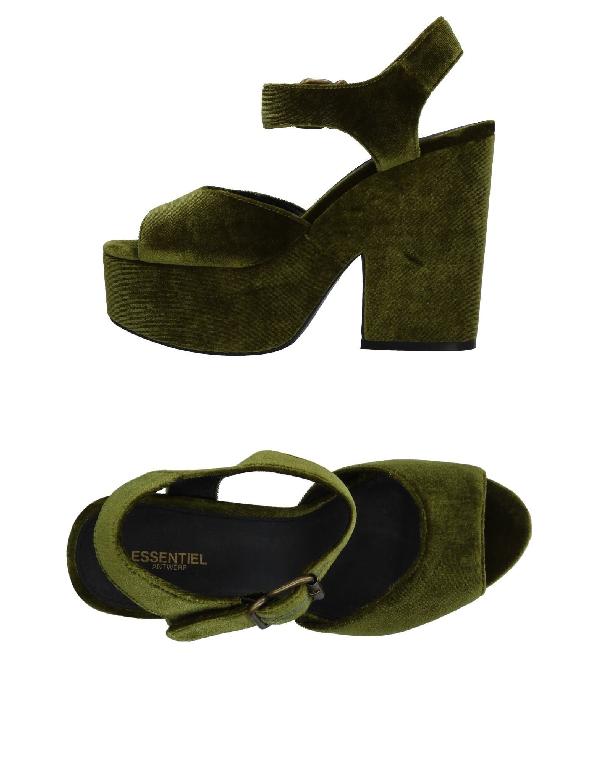 Essentiel Antwerp Sandals In Green