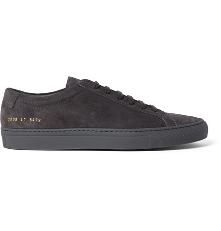 Common Projects Original Achilles Suede Sneakers  In Black