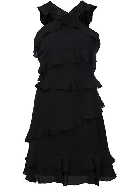 Cushnie Et Ochs Isodora Ruffled Crepe Mini Dress