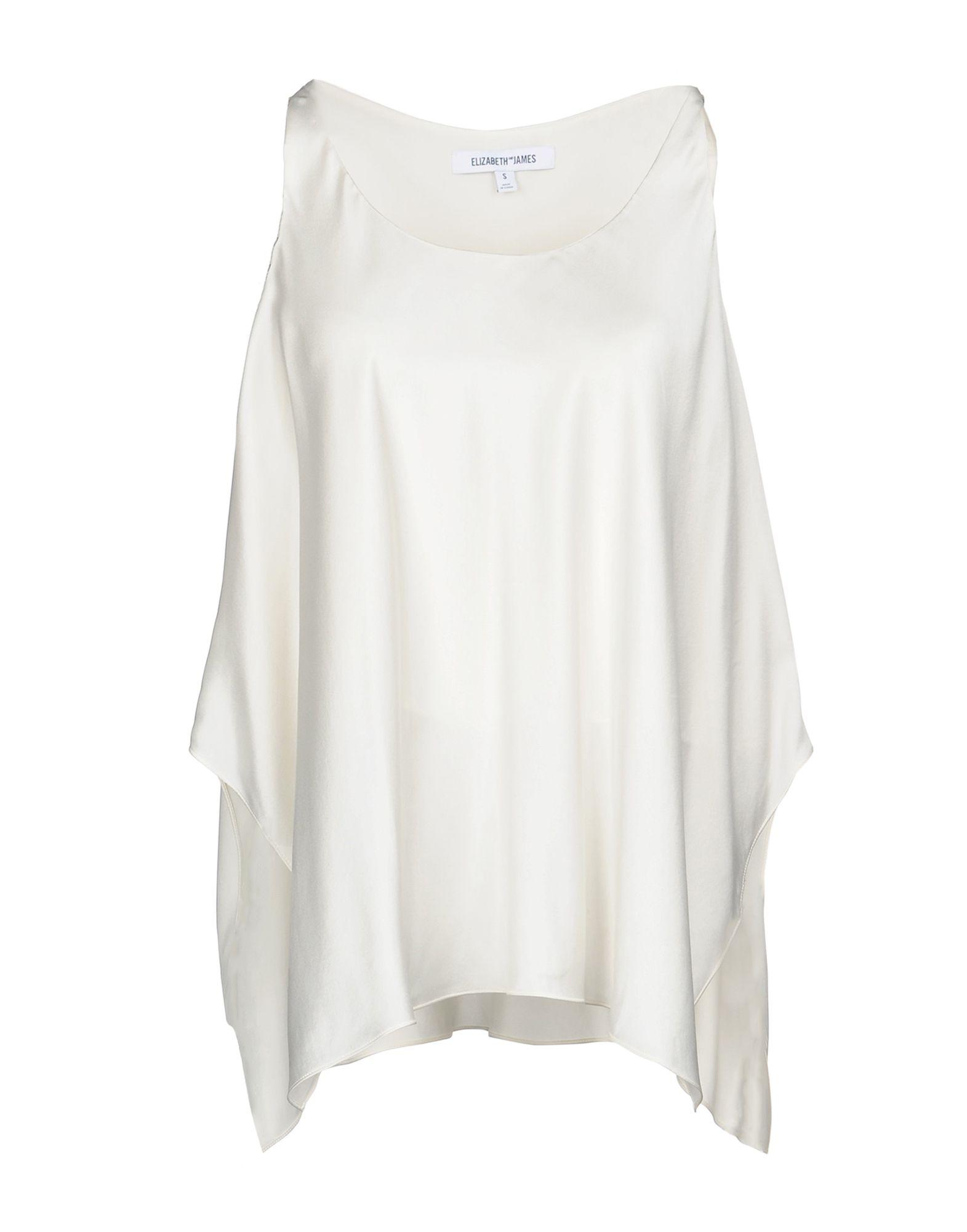 57fecfcbfe4ce2 Elizabeth And James Silk Top In Ivory