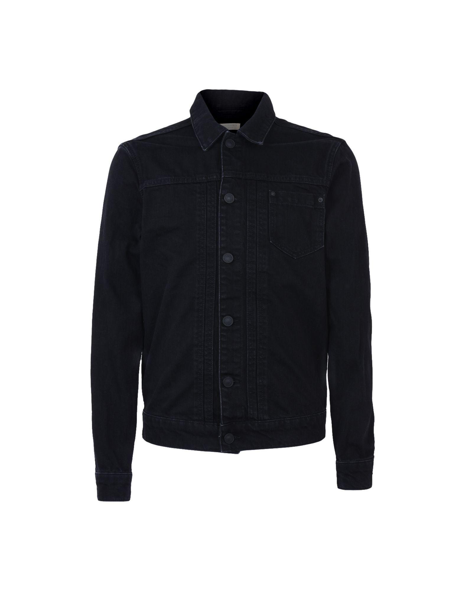 Allsaints Denim Outerwear In Black