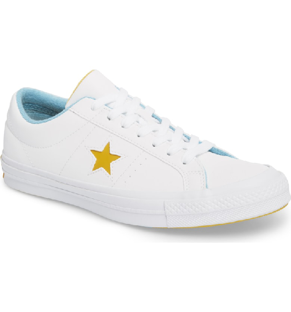 d7f9a709b35e Converse Chuck Taylor One Star Grand Slam Sneaker In White  Yellow Leather