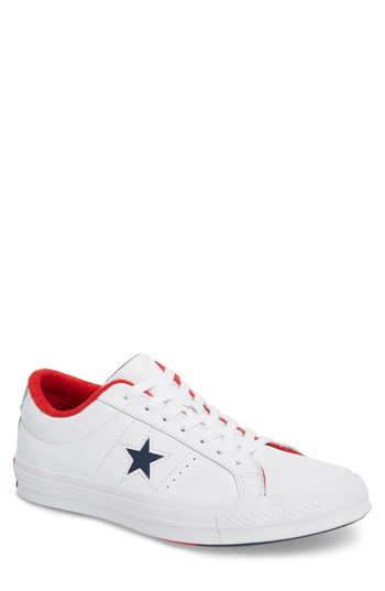 ff8ec2d0a63c Converse Chuck Taylor One Star Grand Slam Sneaker In White  Navy Leather