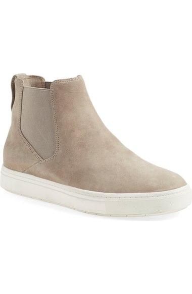 Vince 'newlyn' High Top Sneaker (women) In Woodsmoke Leather