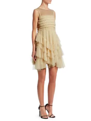 Red Valentino Multi-Layer Tulle Dress In Ivory
