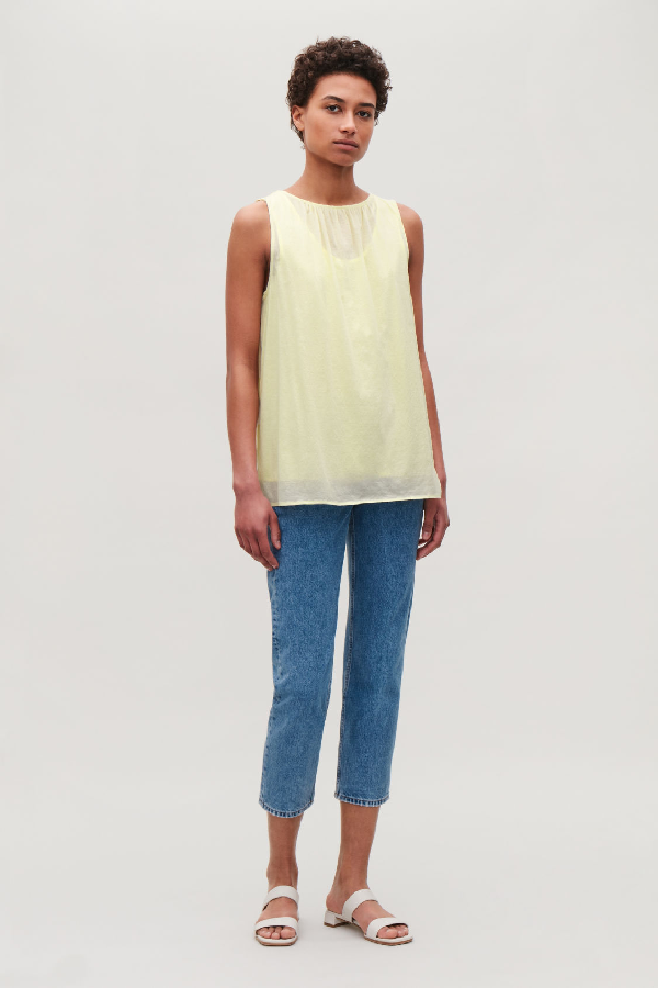 87fb6d09da0a6 Cos Double-Layered Vest Top In Yellow   ModeSens