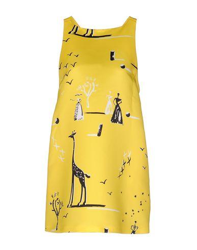 Rochas Short Dress In Yellow