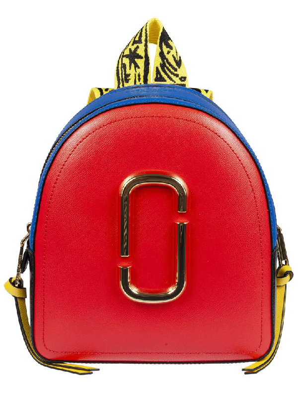 Marc Jacobs Pack Shot Mini Backpack In Poppy Red Multi