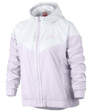 Nike Plus Size Sportswear Windrunner Jacket In Bargra/Bar