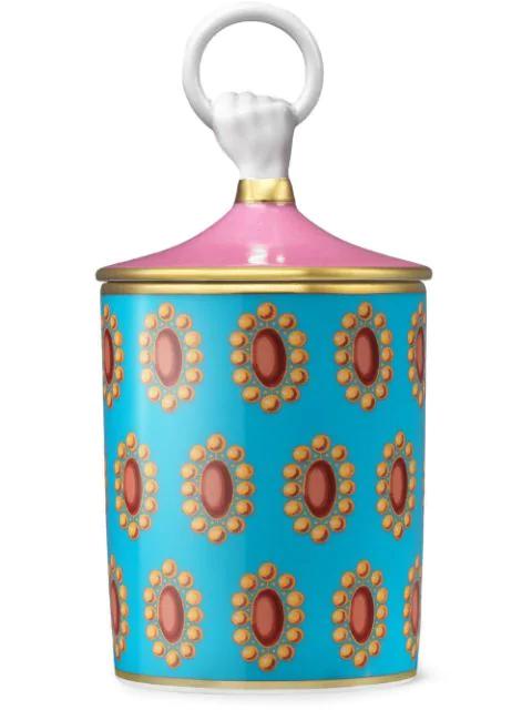 Gucci Inventum, Medium Broche Candle In Pink ,blue