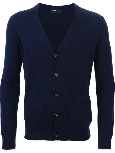 Polo Ralph Lauren Merino V-neck Cardigan In Hunter Navy