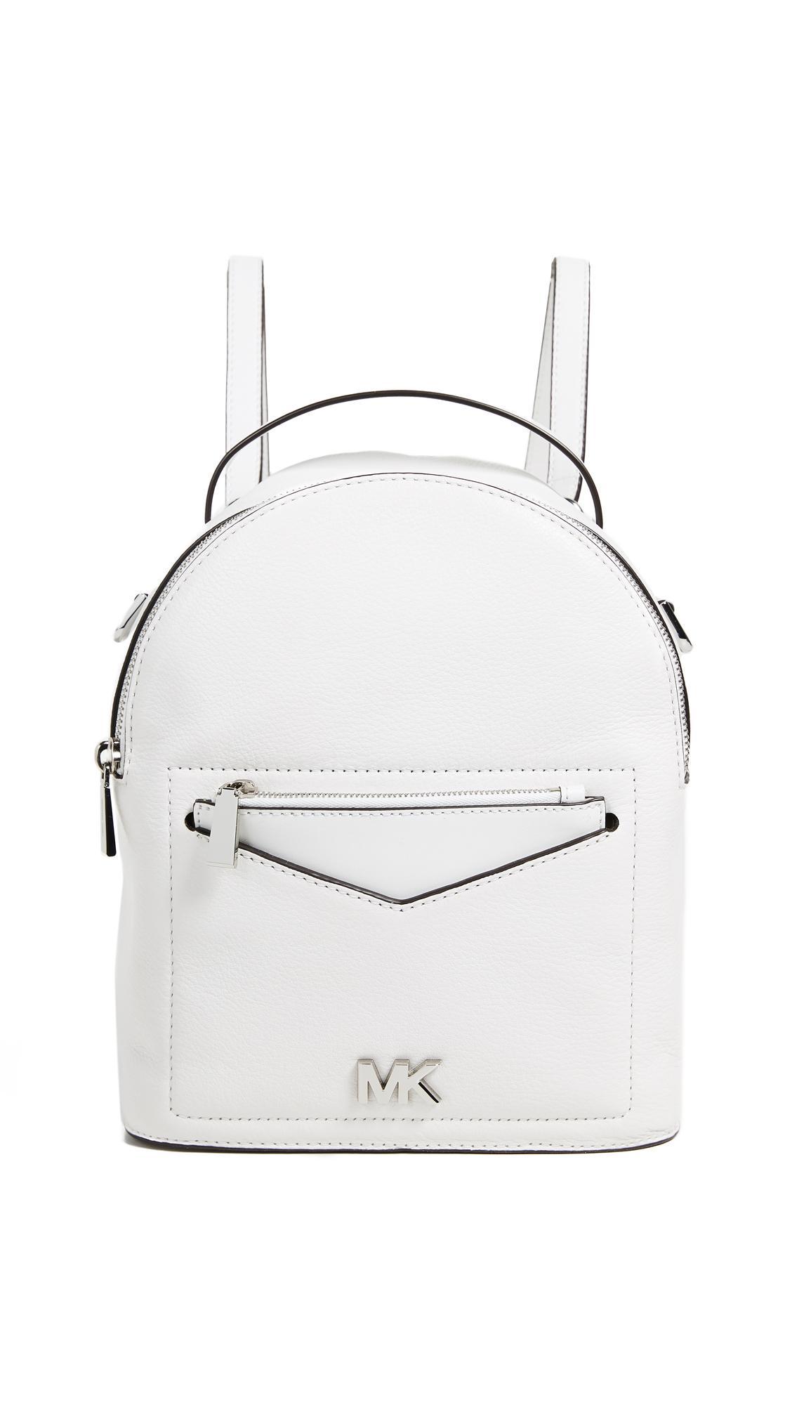 fb742ca65910 Michael Michael Kors Jessa Small Convertible Backpack In Optic White ...