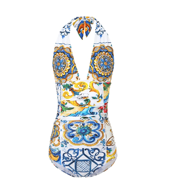 297999cf535 Dolce & Gabbana Printed One-Piece Swimsuit In Multicoloured | ModeSens