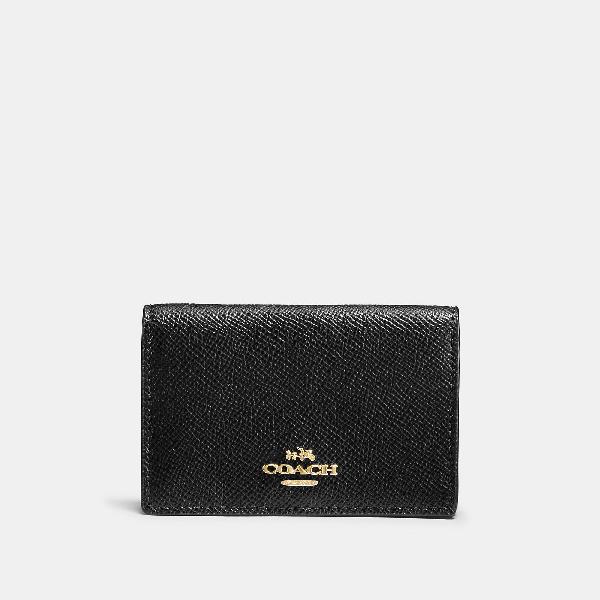 86095ba56c146 Coach Business Card Case - Women s In Black Light Gold