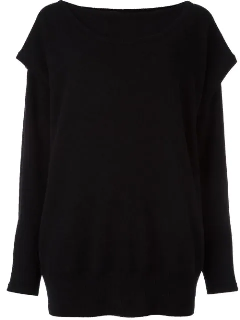 Loewe Double Layer Cashmere Sweater, Black