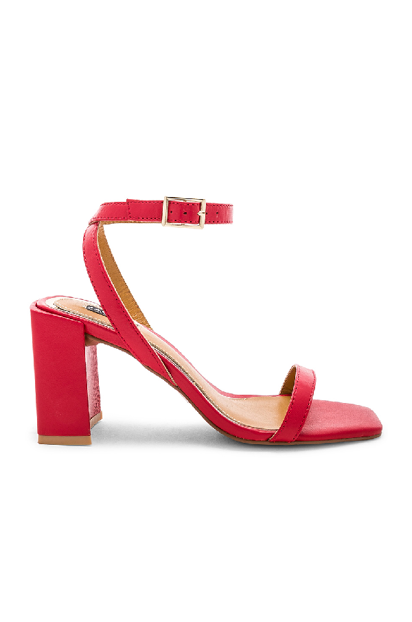 7f0d0054fb71 Jaggar Women's Squared Leather Block Heel Sandals In Red | ModeSens