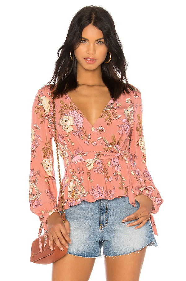 Spell & The Gypsy Collective Rosa Wrap Blouse In Blush