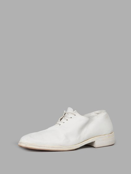 Guidi White Flat Shoes